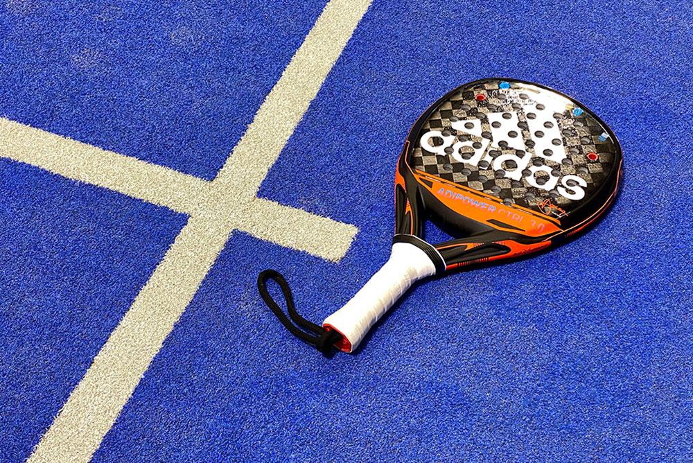 Tennis elbow padel racket