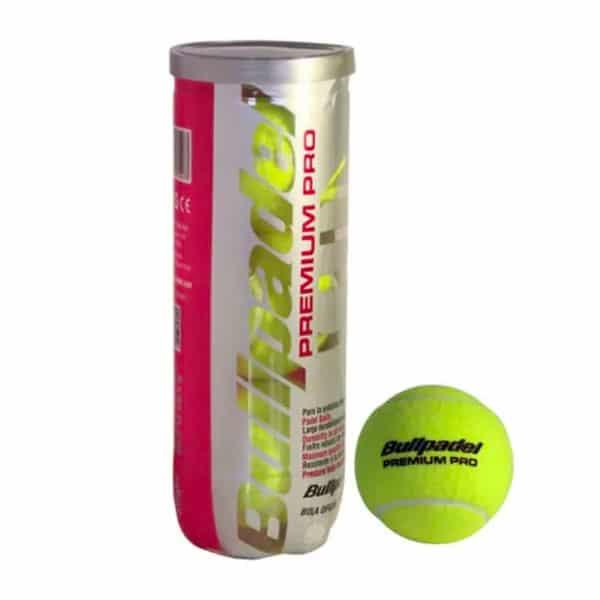 Bullpadel Premium Pro är en hållbar padelboll som utses till vinnare i kategorin bästa padelbollar hållbarhet.