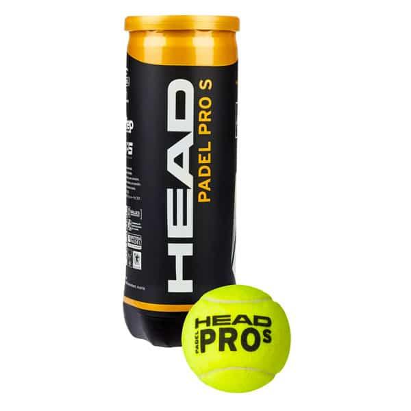 Head Padel Pro S som visas i sitt rör, snabba padelbollar  som är bland de bästa padelbollarna 2021.
