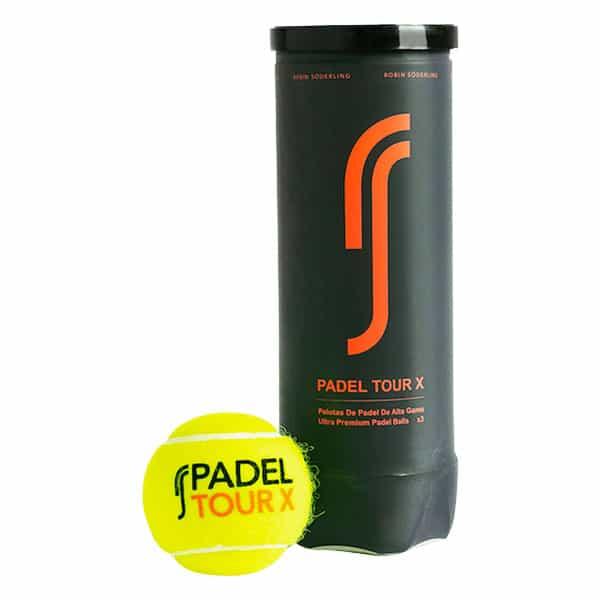 RS Padel Pro X visas i sitt rör och är en av de bästa padelbollarna 2021
