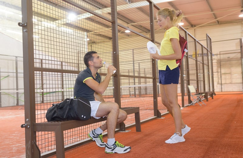 Stretching after padel