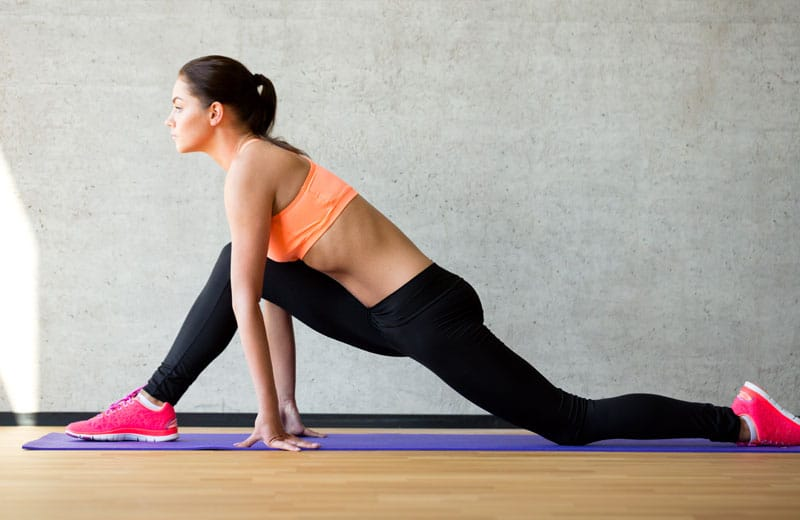 Uppvärmning och stretching före padel