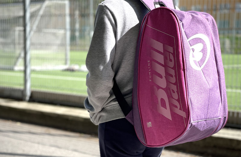 Person carrying one of the best padel bags